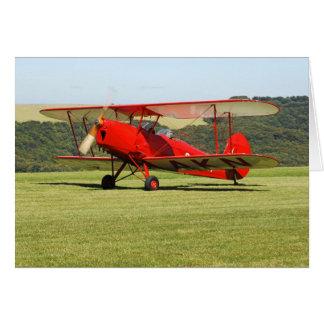 De Havilland Tigermoth Bi-Plane Card