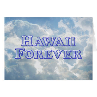 De Hawaii básico biselado para siempre - Tarjeta De Felicitación
