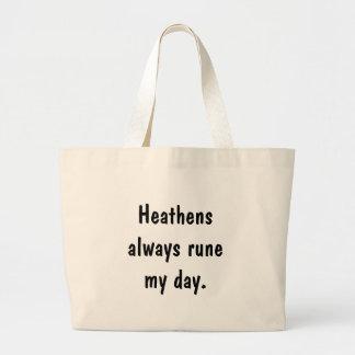 De Heathens runa siempre mi día Bolsas Lienzo