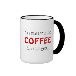 """""""De hecho el CAFÉ es taza de un grupo de"""