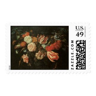 De Heem Festoon of Flowers Postage Stamp