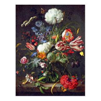 De Heem Flower Postcard