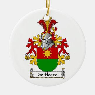 de Heere Family Crest Christmas Tree Ornaments