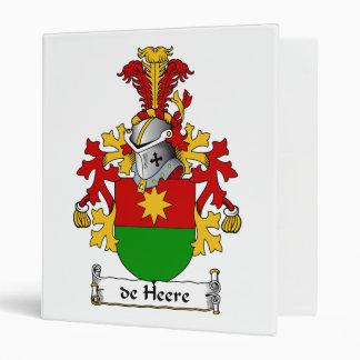 de Heere Family Crest Vinyl Binder