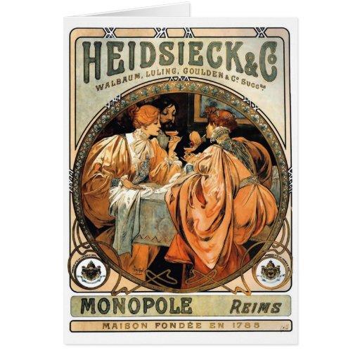 ~ de Heidsieck y del Co de Alfonso Mucha Felicitación