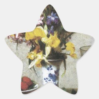 De Henri Fantin-Latour todavía del desposorio vida Pegatina En Forma De Estrella