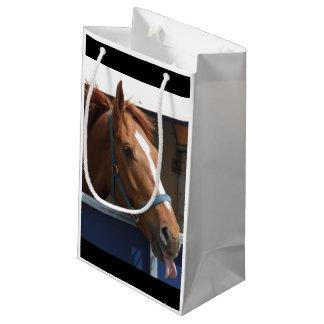 De Horsing caballo fresco de la castaña alrededor Bolsa De Regalo Pequeña
