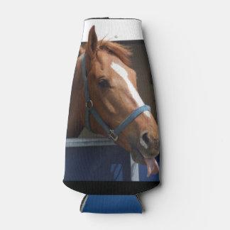 De Horsing caballo fresco de la castaña alrededor Enfriador De Botellas