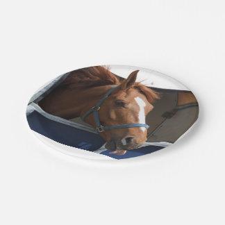 De Horsing caballo fresco de la castaña alrededor Platos De Papel
