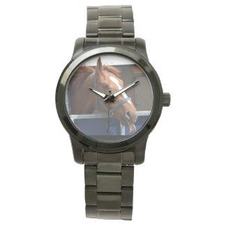 De Horsing caballo fresco de la castaña alrededor Reloj De Mano
