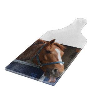 De Horsing caballo fresco de la castaña alrededor Tabla De Cortar