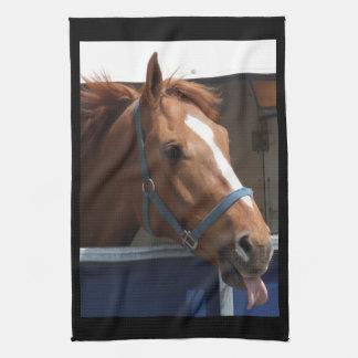 De Horsing caballo fresco de la castaña alrededor Toallas