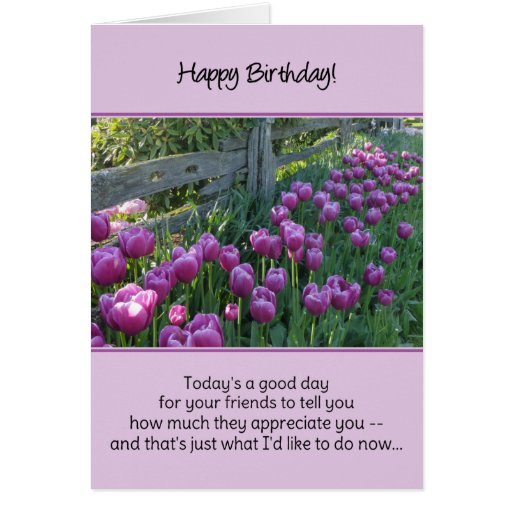 De hoy un buen día para que sus amigos le digan… tarjeta
