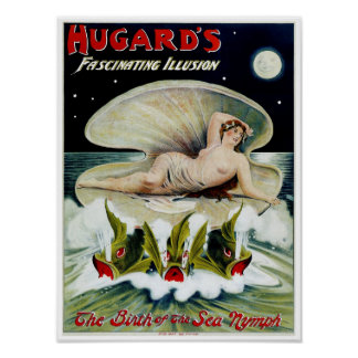 ~ de Hugards el nacimiento de la ninfa de mar Póster