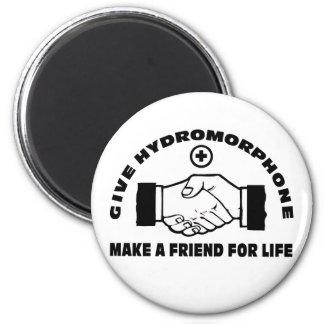 Dé Hydromorphone- hacen a un amigo para la vida Imán Redondo 5 Cm