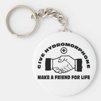 Dé Hydromorphone- hacen a un amigo para la vida Llaveros Personalizados