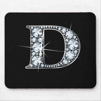 "De ""impresión Mousepad Bling del diamante"" de D Alfombrillas De Ratón"