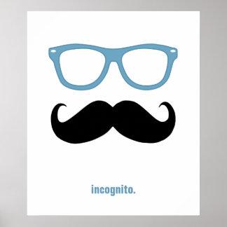 de incógnito - bigote y gafas de sol divertidos impresiones