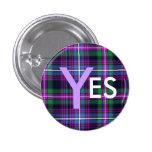 De Indy del tartán independencia Pinback de Escoci