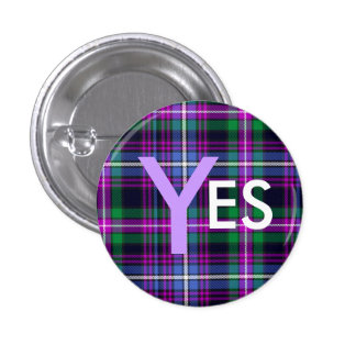 De Indy del tartán independencia Pinback de Escoci Pin Redondo 2,5 Cm