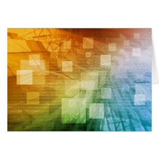De informática como arte abstracto del fondo tarjeta de felicitación