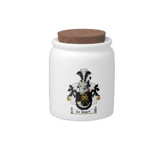 de Jager Family Crest Candy Jar