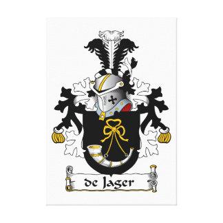 de Jager Family Crest Canvas Prints