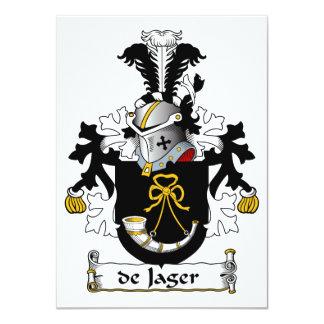 de Jager Family Crest Invitation