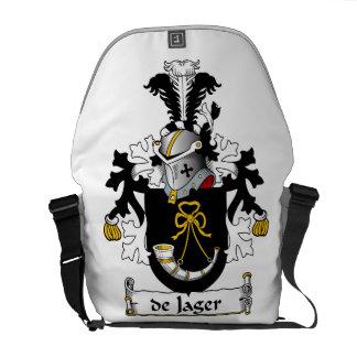 de Jager Family Crest Messenger Bag