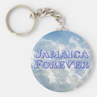 De Jamaica básico biselado para siempre - Llavero Redondo Tipo Pin