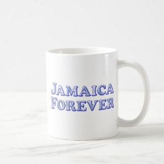 De Jamaica básico biselado para siempre - Taza Básica Blanca