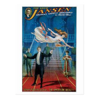~ de Jansen el acto mágico del gran vintage Postal