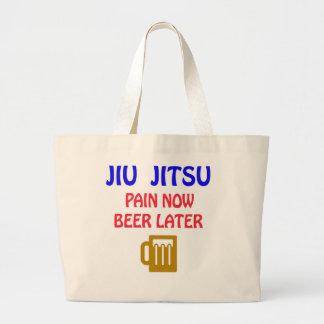 De Jiu-Jitsu del dolor cerveza ahora más adelante Bolsa Tela Grande