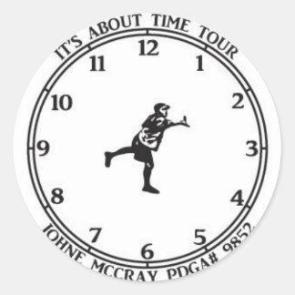 De JohnE McCray está sobre viaje del tiempo Pegatina Redonda