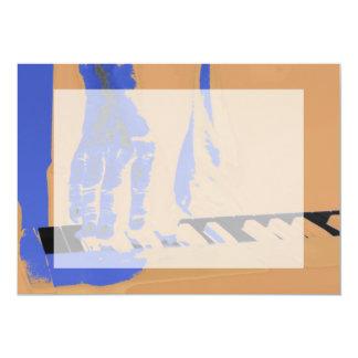 """dé jugar el teclado rojo música masculina azul invitación 5"""" x 7"""""""