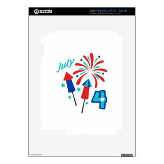 De julio el cuarto pegatinas skins para iPad 3