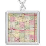 De Kalb, Ogle, Lee counties Square Pendant Necklace