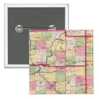 De Kalb, Ogle, Lee counties Pinback Button
