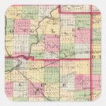 De Kalb, Ogle, Lee counties Square Sticker
