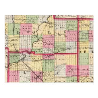 De Kalb, Ogle, los condados de Lee Postales