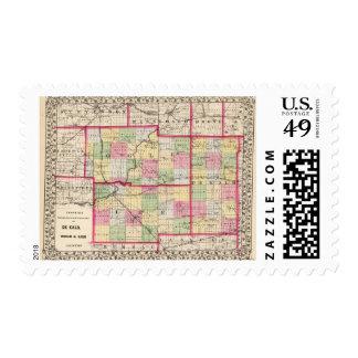 De Kalb, Ogle, los condados de Lee Sello Postal
