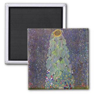 ~ de Klimt que es Sonnenblume Imán Cuadrado