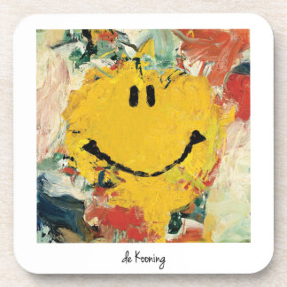 de kooning happy face coaster