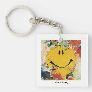 de kooning happy face keychain