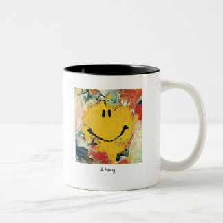 de kooning happy face mug