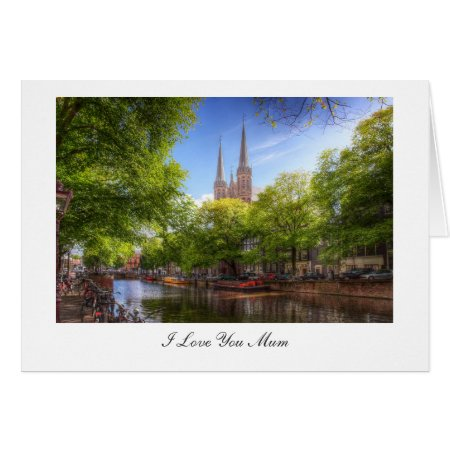 De Krijtberg, Amsterdam - I Love You Mum Card