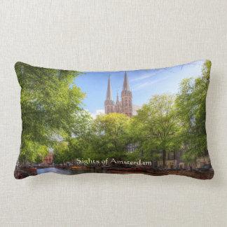 De Krijtberg, Singel - Sights of Amsterdam Lumbar Pillow
