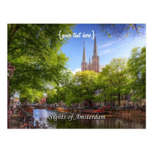 De Krijtberg, Singel - Sights of Amsterdam Postcard