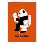 De Kung cumpleaños divertido de la panda bah Tarjeton