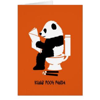 De Kung cumpleaños divertido de la panda bah Tarjeta De Felicitación